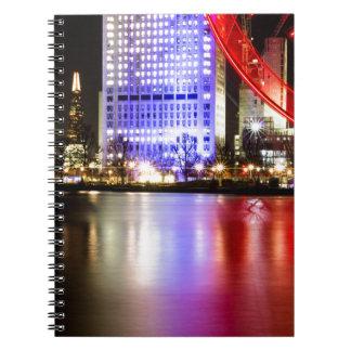Rio Tamisa na cor na noite Cadernos Espiral