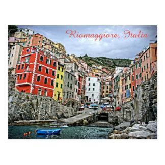 Riomaggiore, Italia - o cartão de Cinque Terre