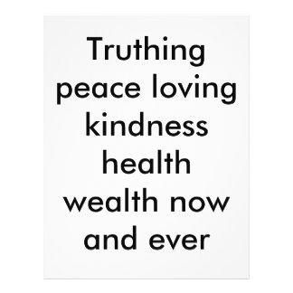Riqueza pacifista da saúde da bondade de Truthing Panfletos