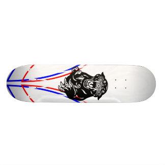 Riscas da pantera shape de skate 18,4cm