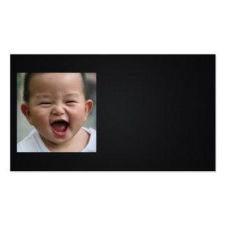 Riso do bebê cartão de visita