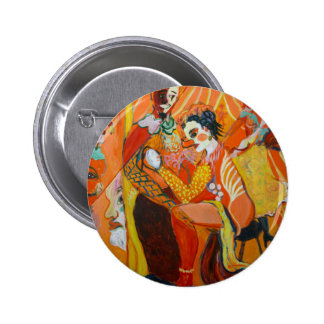 Riso - pintura do palhaço bóton redondo 5.08cm