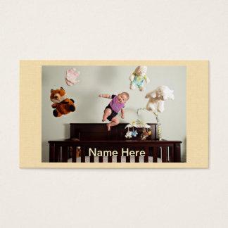 riso saltando o bebê cartão de visitas