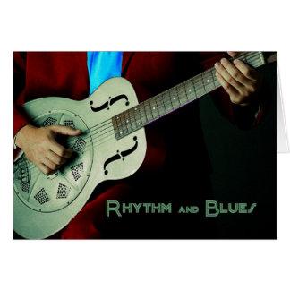 Ritmo e cartão da guitarra dos azuis