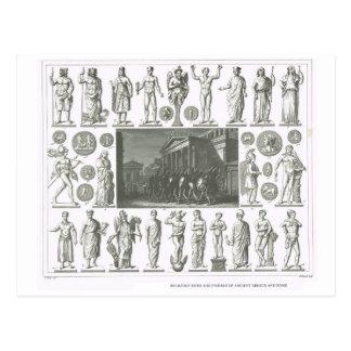 Ritos religiosos da piscina e da Roma Cartão Postal