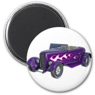 Roadster de 1932 roxos com chama imã