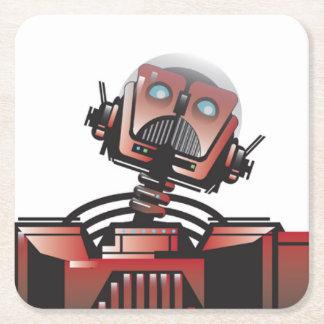 Robbie a porta copos do robô porta-copo de papel quadrado