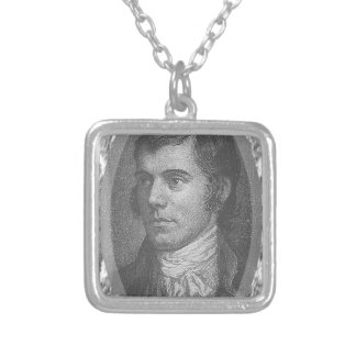 Robbie queima o retrato (cinzento) colar banhado a prata