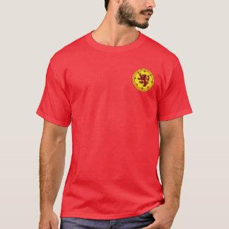 Robert a camisa do selo do vermelho & do ouro de