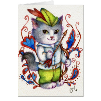 Robin Hood - cartão bonito do gato