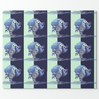 "ROBÔ 30"" BONITO de ROLO x 45'   papel de Papel De Presente"