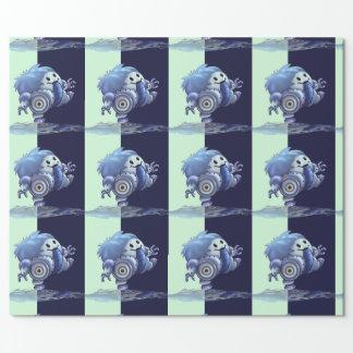 "ROBÔ 30"" BONITO de ROLO x 60'   papel de Papel De Presente"