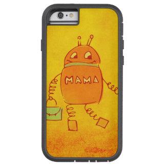Robô bonito da mãe do geek de Robomama protetor Capa Tough Xtreme Para iPhone 6