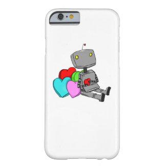 Robô bonito no cobrir de Iphone 6 do amor Capa Barely There Para iPhone 6