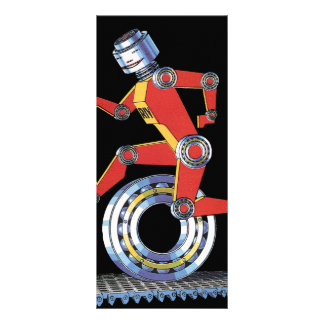 Robô da ficção científica do vintage, corredor do panfleto personalizado