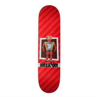 Robô; Escarlate das listras do vermelho Shape De Skate 19,7cm