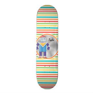 Robô; Listras brilhantes do arco-íris Skates