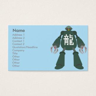 Robô - negócio cartão de visitas