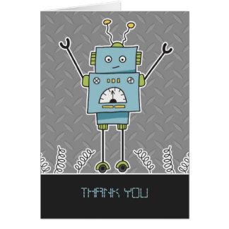 Robô & obrigado felizes dos primaveras você cartão