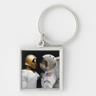 Robonaut 2, uns dexterous, hel 3 do astronauta do  chaveiros