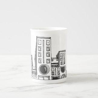 Robôs da construção xícara de chá
