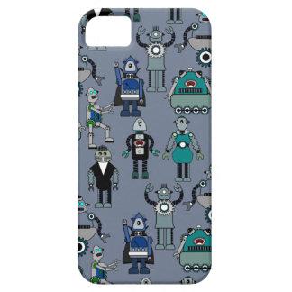 Robôs retros do vintage - design do geek de capa barely there para iPhone 5
