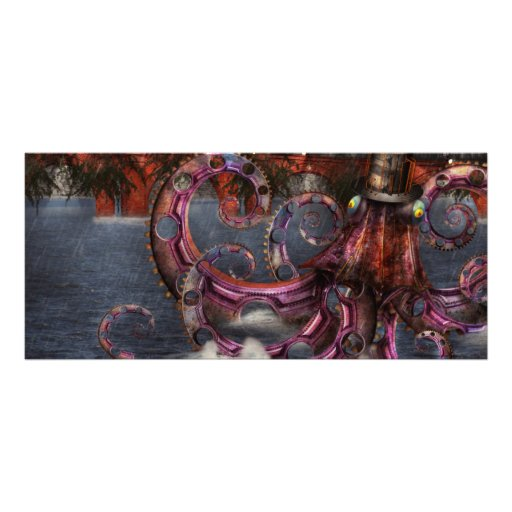 Roboticus do magnificus de Steampunk - de Enteroct Planfeto Informativo Colorido