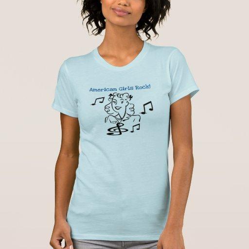 Rocha americana das meninas camisetas