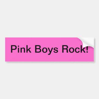 Rocha cor-de-rosa dos meninos adesivo