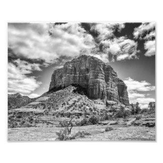 Rocha da catedral - impressão preta & do branco | impressão de foto