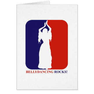 rocha da dança do ventre cartão comemorativo