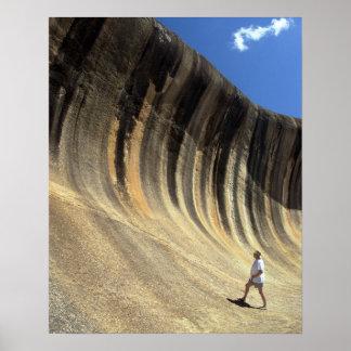 Rocha da onda, Austrália Ocidental Posters