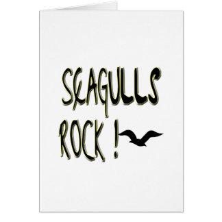 Rocha das gaivotas! Cartão