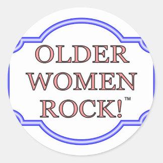 Rocha das mulheres mais idosas adesivo