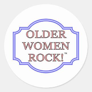 Rocha das mulheres mais idosas adesivos redondos