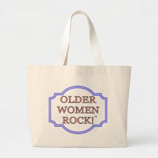Rocha das mulheres mais idosas bolsas de lona