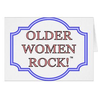 Rocha das mulheres mais idosas cartão comemorativo