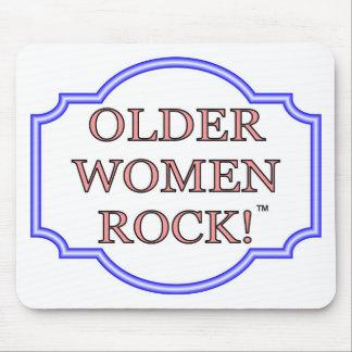 Rocha das mulheres mais idosas mouse pad