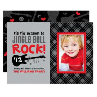 Rocha de Jingle Bell do vermelho do cartão com Convite 12.7 X 17.78cm