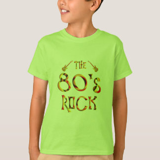 rocha do anos 80 camiseta