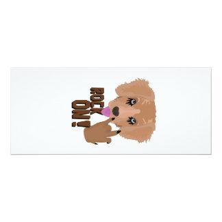 Rocha do filhote de cachorro do metal pesado sobre convite 10.16 x 23.49cm