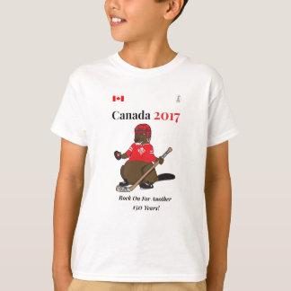 Rocha do hóquei de Canadá 150 em 2017 sobre Camiseta