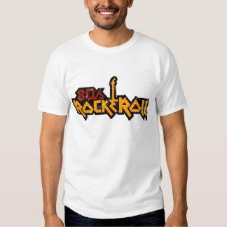 rocha dos anos 80 & t-shirt do rolo
