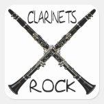 Rocha dos clarinetes adesivos quadrados