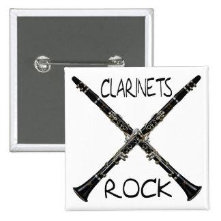 Rocha dos clarinetes bóton quadrado 5.08cm