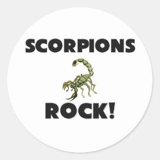 Rocha dos escorpião adesivo em formato redondo
