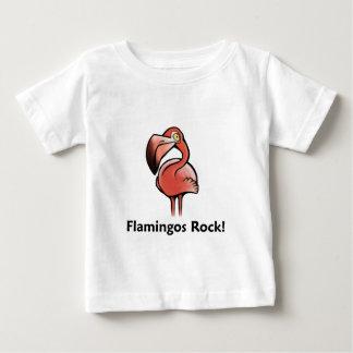 Rocha dos flamingos! camiseta para bebê