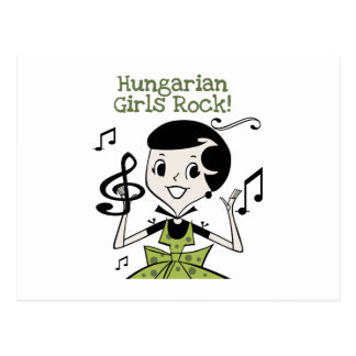 Rocha húngara das meninas cartoes postais
