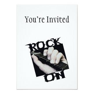 Rocha no guitarrista convite 12.7 x 17.78cm