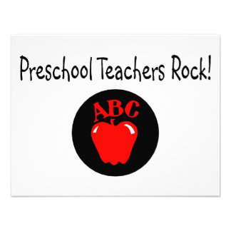 Rocha pré-escolar Apple dos professores Convites Personalizados